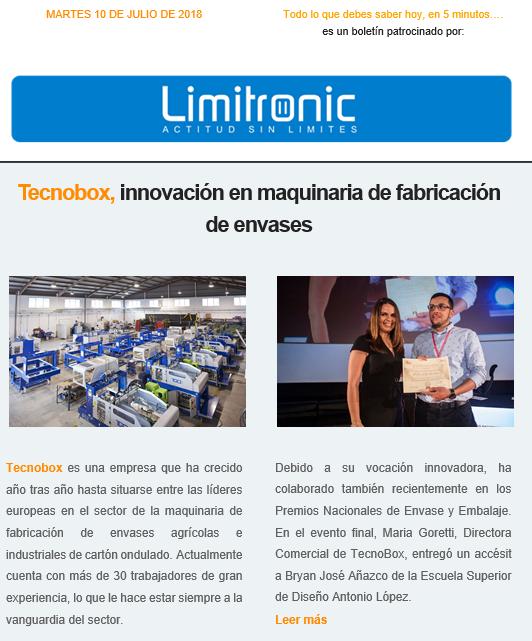 Tecnobox en los IX Premios Nacionales de Envase y Embalaje